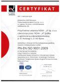 Przychodnia lekarska Nova 4 Bytom - Certyfikat ISO